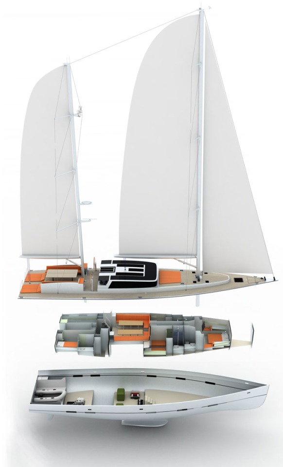 Andala Sailing Boat Ketch Made Of Aluminum Futuristic Technology 244475 D